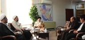تصاویر/ دیدار معاون و مدیران فرهنگی و تبلیغی دفتر تبلیغات با آیت الله بوشهری مدیر حوزه های علمیه