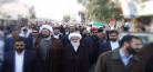 آیت الله نوری همدانی در راهپیمایی 22 بهمن